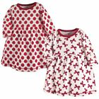 Touched By Nature Girl Baby Organic Cotton Dress, 2-Pack, Bows