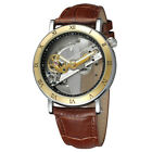 Automatic Skeleton Bridge Watch Mechanical Wrist Watch Men's Luxury Steampunk