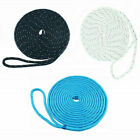 3/8 Inch 20FT Reflective Double Braid Nylon Boat Dock Line Mooring Rope 3 Colors