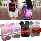 Womens Mickey Minnie Mouse Handbag Bowknot Leather Mini Shoulder Bags Backpack