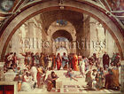 FAMOUS PAINTINGS SCHOOL OF ATHENS ARTIST PAINTING REPRODUCTION HANDMADE OIL DECO