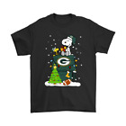 A Happy Christmas With Green Bay Packers Snoopy NFL Black T-Shirt S-6XL $11.99 USD on eBay