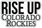 "Colorado Rockies Rise Up MLB Baseball Sport Car Bumper Sticker Decal  ''SIZES"" on Ebay"