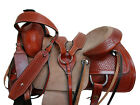 LEATHER WESTERN ROPING RANCH HORSE SADDLE CUSTOM MADE 15 16 17 TRAIL TACK SET