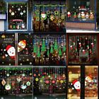 Merry Christmas Window Wall Sticker Decals Snowflake Santa Claus Xmas Decor Usa