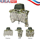 Outdoor Jungle Sun Protect Neck Face Flap Cap Snap Wide Brim Fishing Hiking Hat