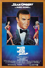 Never Say Never Again 4 Poster Movie Poster Canvas Picture Art Wall Decore £8.0 GBP on eBay