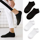 5Pairs Men Invisible Nonslip Ankle Loafer No Show Low Cut Boat Socks Black White