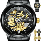 Skeleton Dial Automatic Mechanical Watch Men's Stainless Steel Band Wrist Watch image