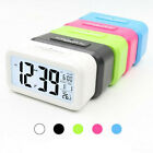 Digital LCD Snooze Electronic Alarm Clock with LED Backlight Light Control O3W5G
