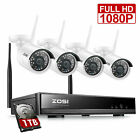 ZOSI Wireless Security Camera System 1080P WiFi Outdoor CCTV NVR System 1TB 8CH