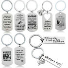 I Love You Keyring Couples Boyfriend Steel Keychain Keyfob Special Lovely Gift