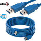 USB Cable 3.0 High Speed Date Cord Fast Charger Device Sync Type A TO A Male