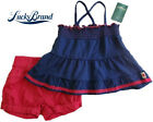 NWT LUCKY BRAND Girls Pink  Blue 2 Piece Shorts Set Size 2T, 4T MSRP 44.00 NEW