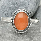 Peach Moonstone 925 Sterling Silver Handmade Ring Jewelry s.10 SDR66705