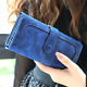 Woman Long Wallet Suede Leather Wallets Coin Purse Card Holder Clutch Xmas Gift photo