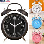 4 Twin Bell Alarm Clock Vintage Classic Bedroom Bedside Battery Operated Loud