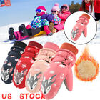 KIDS CHILDRENS BOYS GIRLS SKI GLOVES OUTDOOR SPORT WATERPROOF WARM WINTER GLOVES