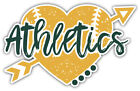 "Oakland Athletics Heart MLB Baseball Sport Car Bumper Sticker Decal ''SIZES"" on Ebay"