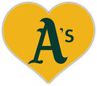 "Oakland Athletics Heart MLB Baseball Car Bumper Sticker Decal ''SIZES"" on Ebay"