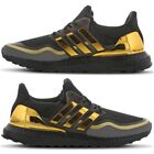 NEW IN! Adidas Ultra Boost Mens Trainers Black & Metallic Gold Primeknit Shoes
