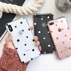 Case for iPhone 11 Pro XR XS Max 7 8 Plus Soft Hearts Phone TPU Silicone Cover