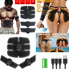 8PC Electric Muscle Toner EMS Simulator Wireless Belt ABS Butt Trainer USA NEW image