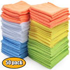 Microfiber Cleaning Cloth Towel Rag Car Polishing No Scratch Detailing Set of 50