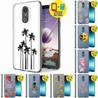 Gel Design Protective Phone Case Cover LG Stylo 4,Palm Tree Print,Tempered Glass