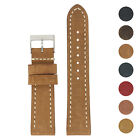 StrapsCo Vintage Leather Watch Band Strap, Short, Standard, Extra Long image