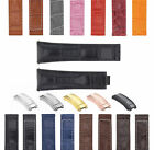 20MM LEATHER ALLIGATOR STRAP BAND DEPLOYMENT BUCKLE CLASP FITS FOR ROLEX DAYTONA image