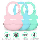 Baby Bibs Boy Girls Silicone Waterproof Adjust Feeding Towel Bib Cloth Cartoon
