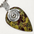Dragon Blood Stone - South Africa 925 Sterling Silver Pendant Jewelry SDP44826