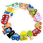 Wooden Lacing Beads Blocks Box Threading Educational Toy Game For Kds MA