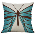 18 Exquisite Cotton Linen Painting butterfly pillow case Cushion Cover Home Deco
