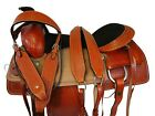 WESTERN TRAIL SADDLE HORSE PLEASURE AMAZINGLY TOOLED LEATHER RANCH TACK 16 17
