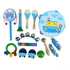 13 Pack Wooden Kids Music Instruments Kit Toys Set Children Toddlers Percussion