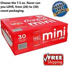 Coca-Cola Mini Cans, Plus 5 Other Flavors (7.5oz / 30pk) or (1) Single Mini Can $6.99  on eBay
