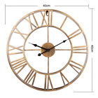 40cm Oversized Big Metal Vintage Wall Clock Retro Wrought Iron Art Decorative
