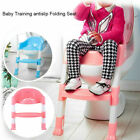 Trainer Toilet Potty Padded Seat Chair Kids Toddler w/ Ladder Step Up TO image