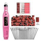 Nail Art Electric File Drill Bits Kit Acrylic Gel Remover Pedicure Machine Kit