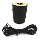 "1/8"" Black Bungee Cord Marine Grade Heavy Duty Shock Rope Tie Down Stretch Band"