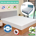 Bamboo Cotton Waterproof Mattress Cover Protector Full Twin CK Hypoallergenic image