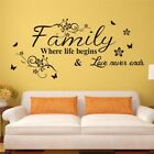 Removable Wall Stickers Home Decoration Inspiration Family Quote Bedroom Sticker