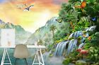 3D Flamingo Dolphin B15 Wallpaper Wall Mural Self-adhesive Adrian Chesterman Zoe