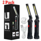 Kyпить Magnetic Rechargeable COB LED RED Work Light Lamp Flashlight Folding Torch на еВаy.соm