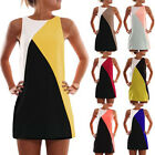 Fashion Women Sleeveless Color Evening Party Cocktail Dress