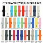 US Replacement Silicone Sport Band Strap For Apple Watch Series 4/3/2/1 40/44mm image