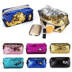 women sequins glitter make up mermaid pouch lady cosmetic bag evening clutch bag