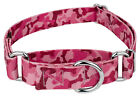 Country Brook Petz™ Pink Bone Camo Martingale Dog Collar